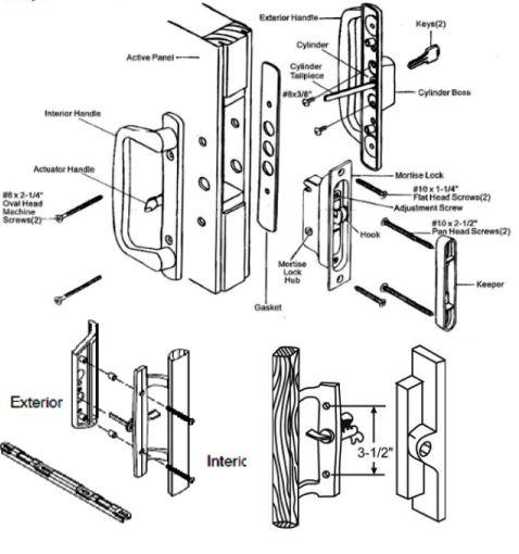 Glass door lock repair