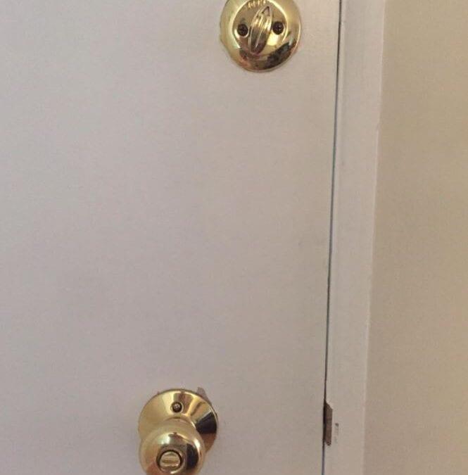Deadbolt Lock Installation